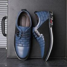 Осенняя обувь из натуральной кожи, Мужская обувь для прогулок обувь дышащая мужская спортивная обувь на шнуровке, оксфорды, платье Бизнес официальная Свадебная вечеринка большой Размеры