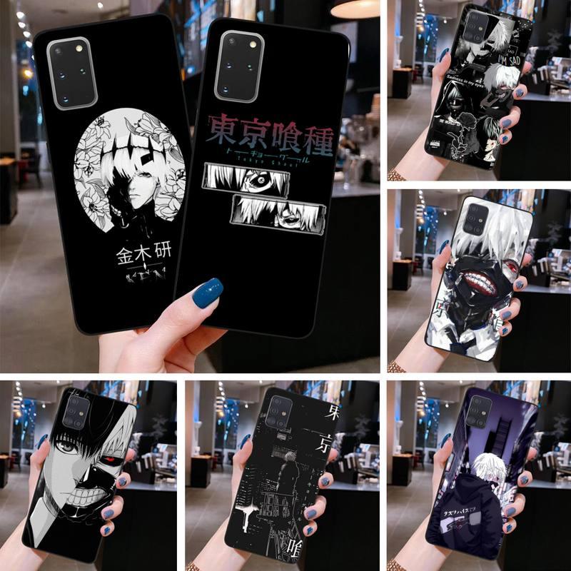 Anime tóquio ghoul japão suave caso de telefone para samsung galaxy s20 fe mais ultra s6 s7 borda s8 s9 mais s10 5g lite 2020