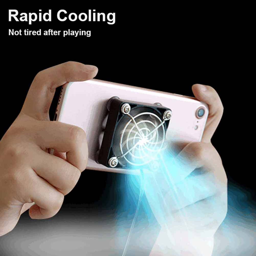 Universal Phone Cooler Adjustable Portable Game Fan Holder Heat Sink Phone Radiator Gaming for iPhone Samsung Huawei image