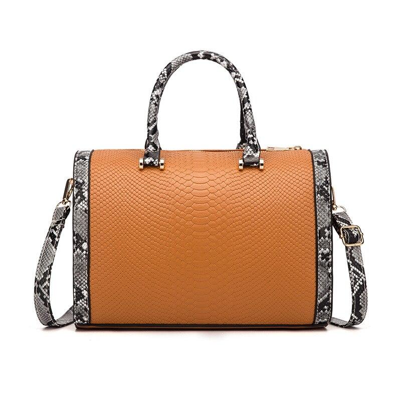 Shoulder Bag High Quality Soft Leather Big Pocket Casual Handbag Female Handbag Shoulder Bag Large Capacity Handbag Black Brown
