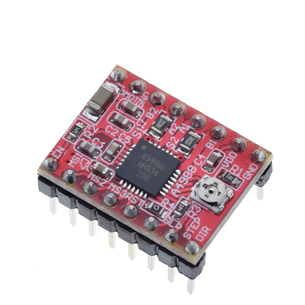 CNC 3D Printer Parts Accessory A4988 Stepper Motor Driver Module with Heatsink for ramps 1.4 for arduino