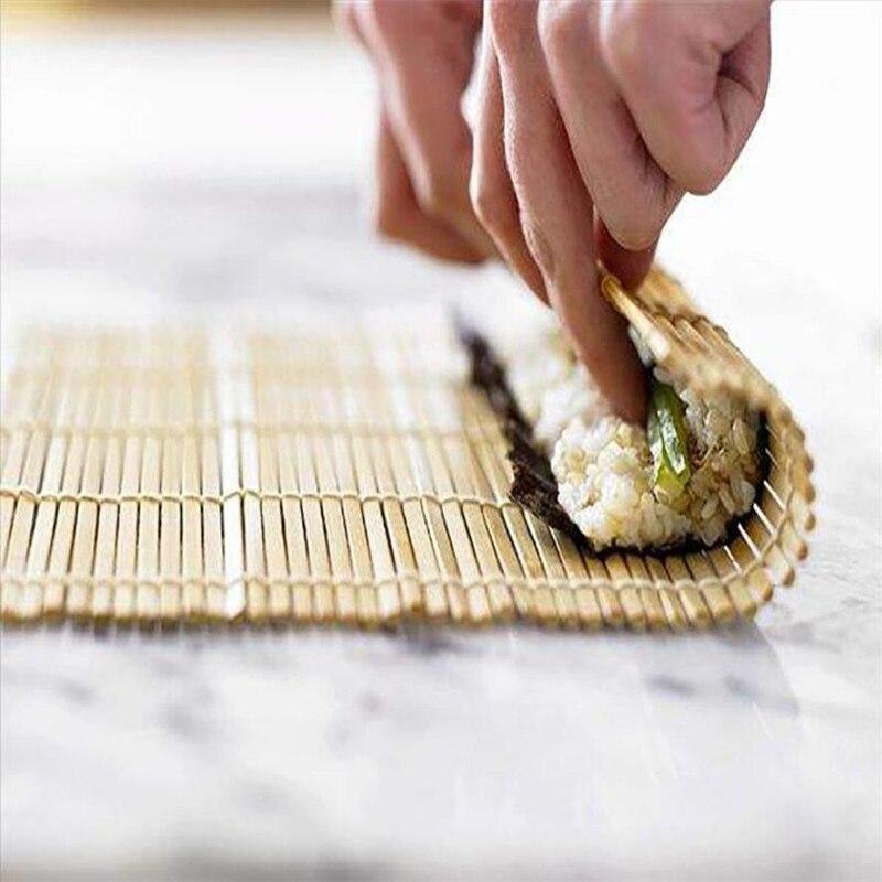 Ustensile de riz japonais en bambou, Set de Sushi, ustensile à rouler pour fabriquer du riz, à faire soi-bricolage, accessoires de cuisine, nouveauté