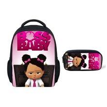 Thikin Boss Baby for Girls Preschool Book Backpack Kids Pupils School bags Supplies Boys Bookbags Students Daybag