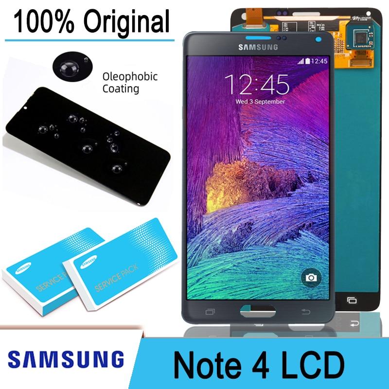 100% Оригинальный 5,7 ''ЖК-дисплей сенсорный экран дигитайзер в сборе для Samsung Galaxy Note 4 N910 N910A N910F Pantalla запасные части