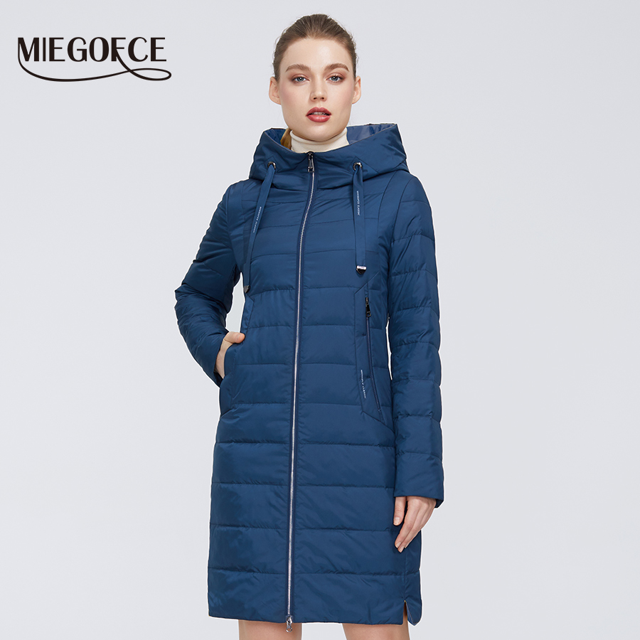 MIEGOFCE 2020 Designer Spring- Autumn Womens Collection With Zipper And Medium Knee Length Resistant  With Hood Women Coat