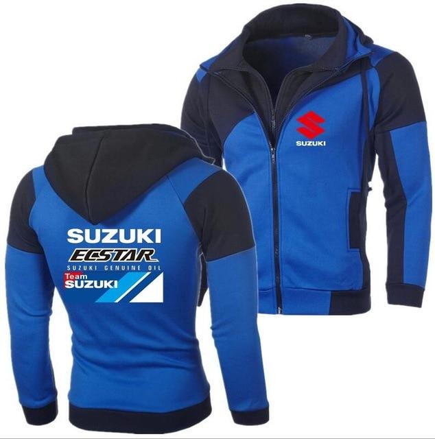 2019 autunno Uomini Andrea Iannone 29 per Suzuki Squadra ecstar Uomini felpe felpe con cappuccio uomini casual con cappuccio Blu SU
