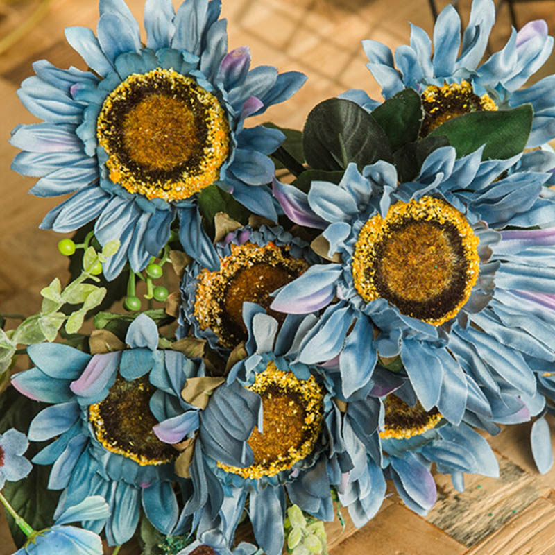 Big Sunflower Bunch Decorative Artificial Heads Fake Party Decoration Props Wedding DIY Crafts