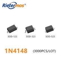 3000PCS 1N4148 1N4148W SOD123 1N4148WS SOD323 1N4148WT SOD523 T4