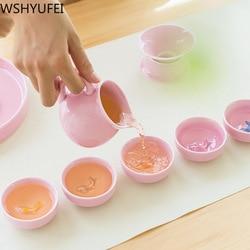 Phong cách mới Men Ngọc cá Bộ trà Bộ Kung Fu ấm trà trà tiện lợi Đi Du Lịch Trà Văn Phòng hộ gia đình uống đồ dùng WSHYUFEI