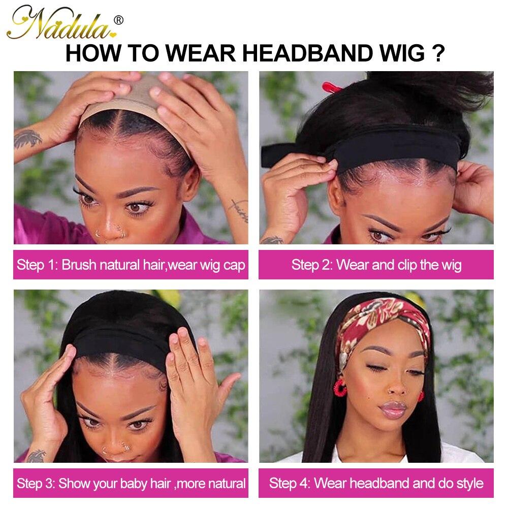 Nadula Water Wave BOB Wig Short Headband Wig  Easy Install Short Bob Water Wave Headband Wig for American Women 3