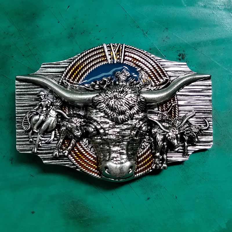 Bull Belt Buckle Western Cowboy SILVER Gold Rodeo HIGH QUALITY 3D MEN WOMEN