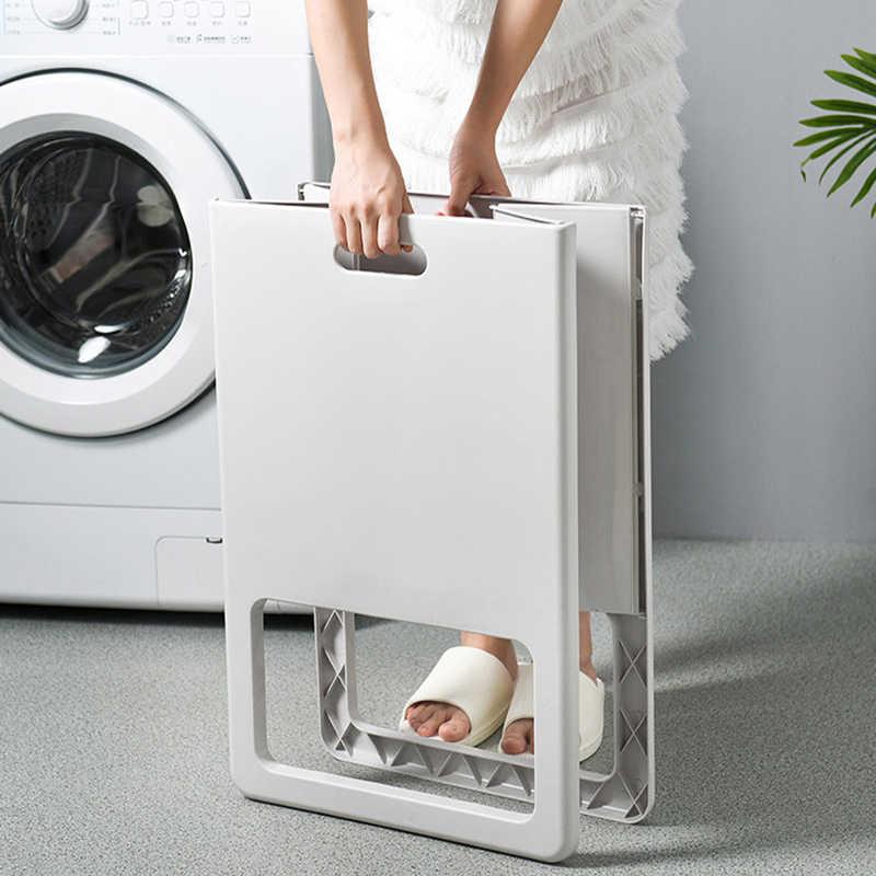 Plastik Dirty Laundry Keranjang Lipat Pakaian Keranjang Penyimpanan Rumah Tangga Laundry Hamper untuk Kamar Tidur Kamar Mandi Organizer Berdiri