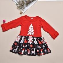 Рождественское платье для девочек; Сезон осень зима; Одежда