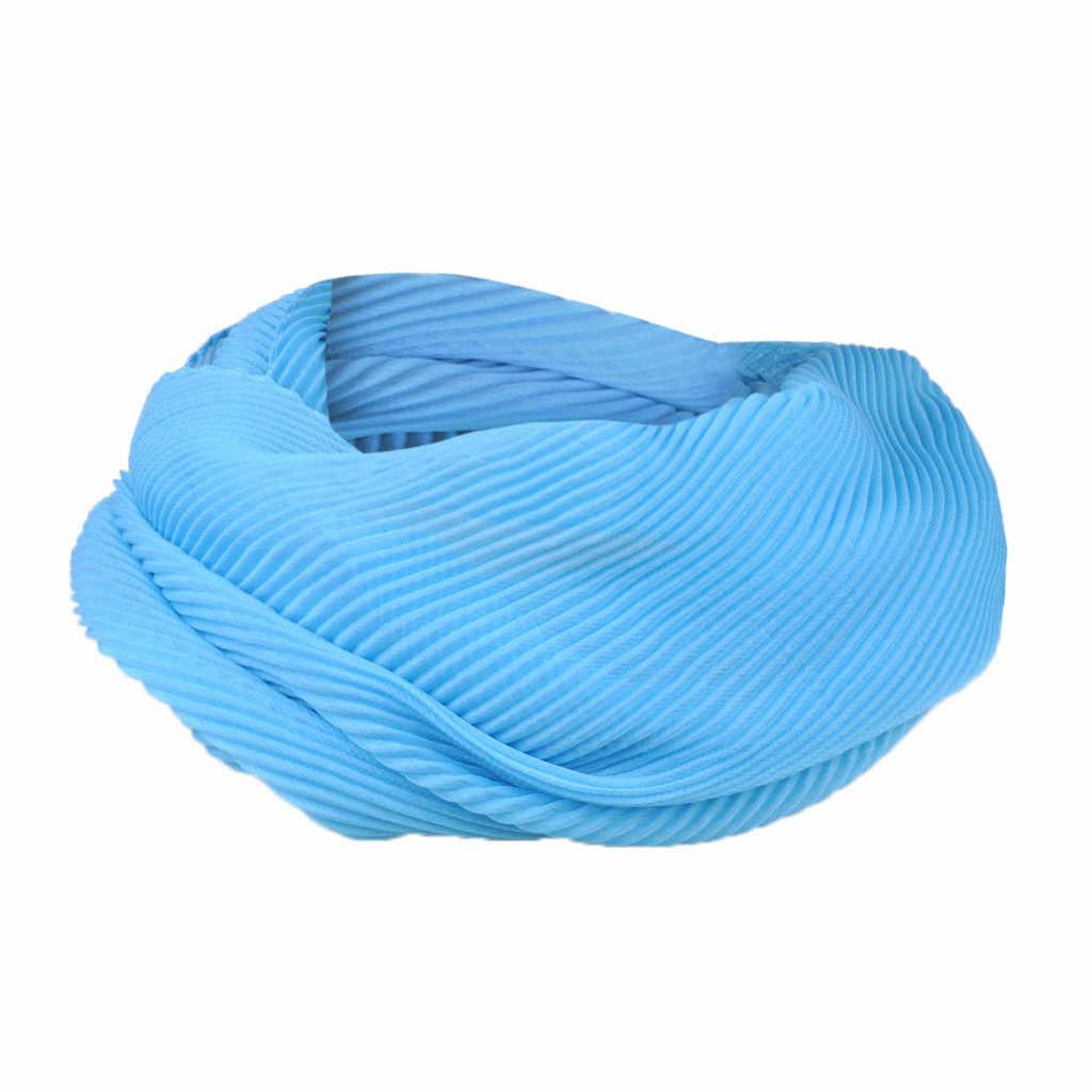 Foulard fina Lenços de Cabeça Moda Quente Colorido Bonito Presente Mulheres Macio Chiffon Convertible Sólida Cachecol Laço Infinito Lenços