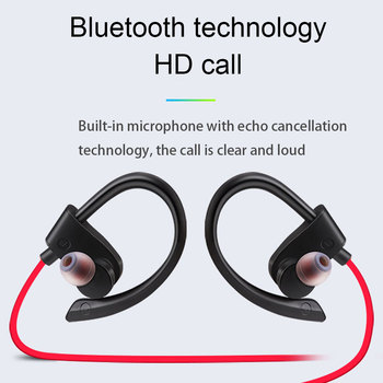 Bluetooth Earphone Wireless Bluetooth Earphones Earloop Noise Cancelling Headset Neckband life Sport In-Ear For All Smart Phones 5