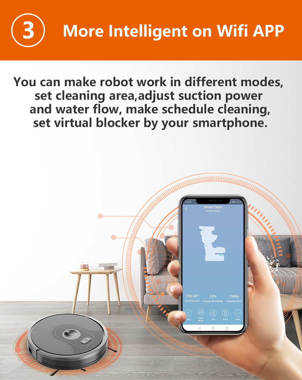 H013202b8416f489ca1424610dc203febv ABIR X6 Robot Vacuum Cleaner with Camera Navigation,WIFI APP controlled,Breakpoint Continue Cleaning,Draw Cleaning Area,Save Map