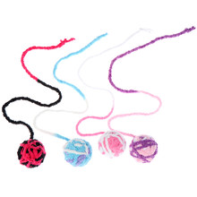 Colorful Wool Ball Toy Pet Dog Cat Kitten Teaser Playing Play Chew Rattling Scratch Catch Toys Rope Weave Ball random color(China)