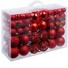 100 шт Рождественская елка Декор полый шар-безделушка подвески для рождественской вечеринки шар, украшение, Декор для дома Рождественский Декор A16
