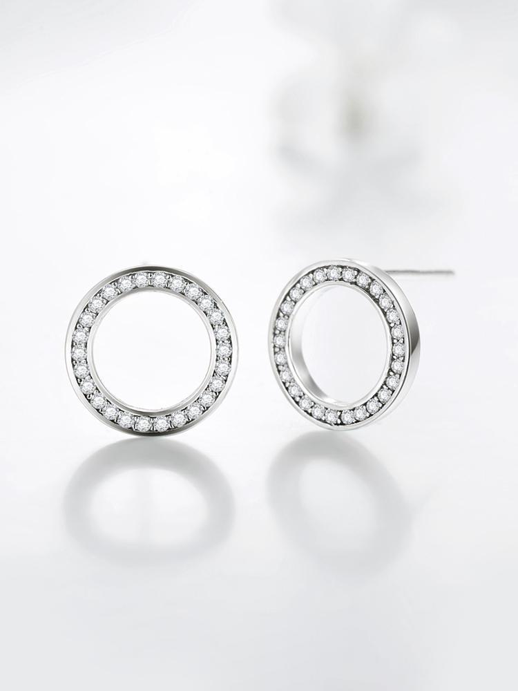 2020 высококачественные модные серьги из стерлингового серебра 925 пробы, роскошные серьги-гвоздики с кристаллами и цирконием для женщин, свад...