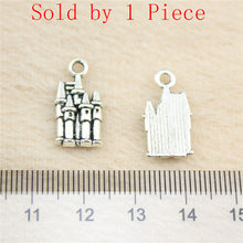 Sales Retail 1 Piece 18x10mm Castle Charms Jewelry Pendant Jewel(China)