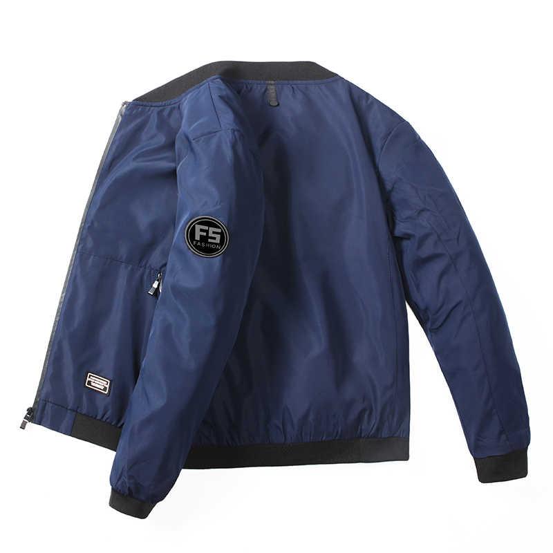 Neue Männer der Bomber Zipper Jacke für männer marke kleidung casual herren jacke mantel gedruckt qualität oberbekleidung männlichen schwarz 0625