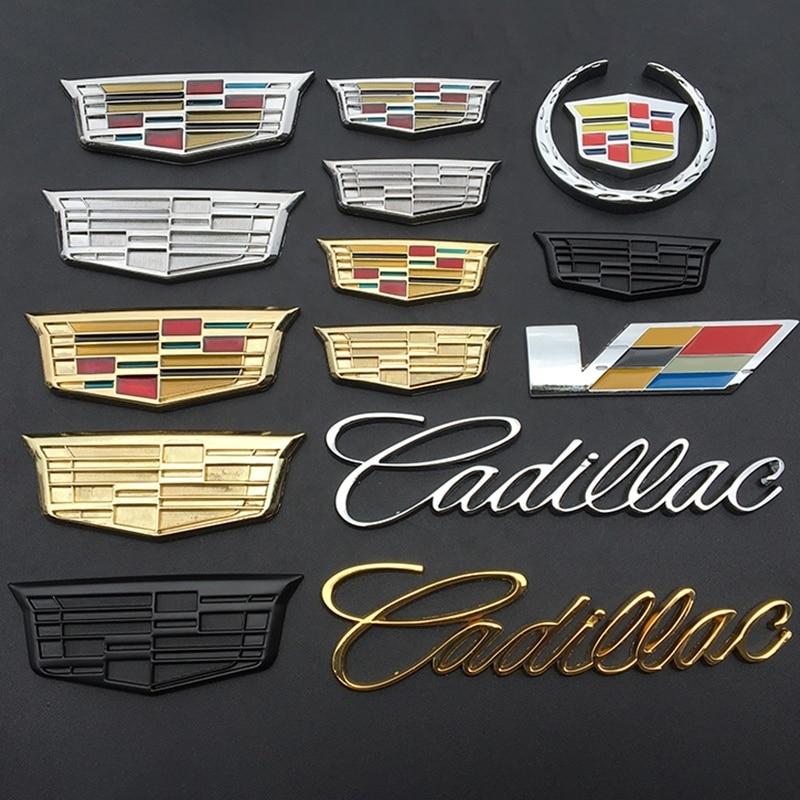 For Cadillac Escalade CTS DTS STS XTS ATS BLS SLS Deville Seville Tiburon CT5 CT6 XT5 XT6 SRX XLR Metal 3D Exrerior Sticker
