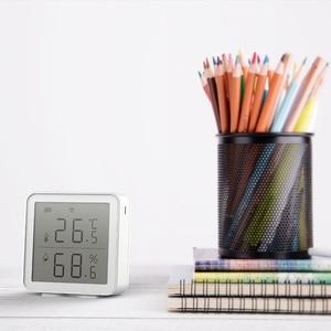 Image 4 - Sensor inteligente de temperatura y humedad con WiFi, dispositivo con pantalla LCD, funciona con el asistente de Google Alexa, Control de enlace con Tuya