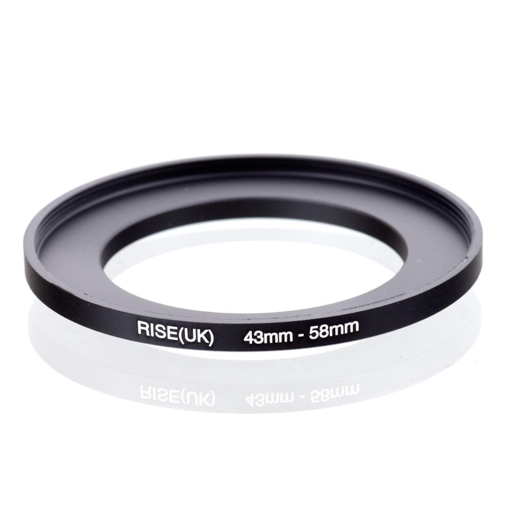 RISE(UK) 43mm-58mm 43-58 Mm 43 To 58 Step Up Filter Ring Adapter