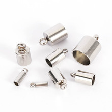 20pcs/lot 2/3/4/5/6/8/9/10mm Hole Matel Stainless Steel Jewelry End Caps For Diy Bracelet  Pendant Jewelry Making Accessories