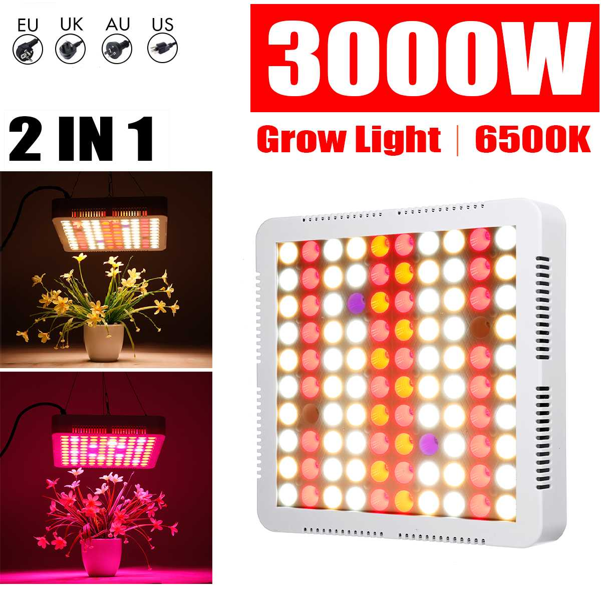 <font><b>3000W</b></font> Phyto Lamps <font><b>LED</b></font> <font><b>Grow</b></font> <font><b>Light</b></font> Full Spectrum Plant Lighting For Plants Flowers Seedling Cultivation AC85-265V image