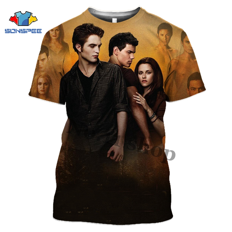 Anime 3d Print Street Clothing T Shirt Men Women Movie Fashion T-shirt Twilight Kids Harajuku Tees Funny Shirts Homme Tshirt A74
