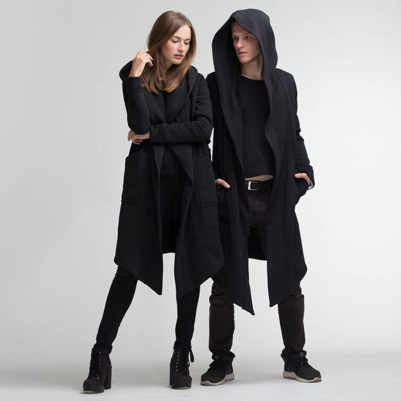 H0132b333e8ae4d4b9c87c8f9051eeadet Women Men Long Coats Burning Man Warm Casual Fashion Solid Thick Cosplay Hooded Jacket Coat Outwear Plus Size