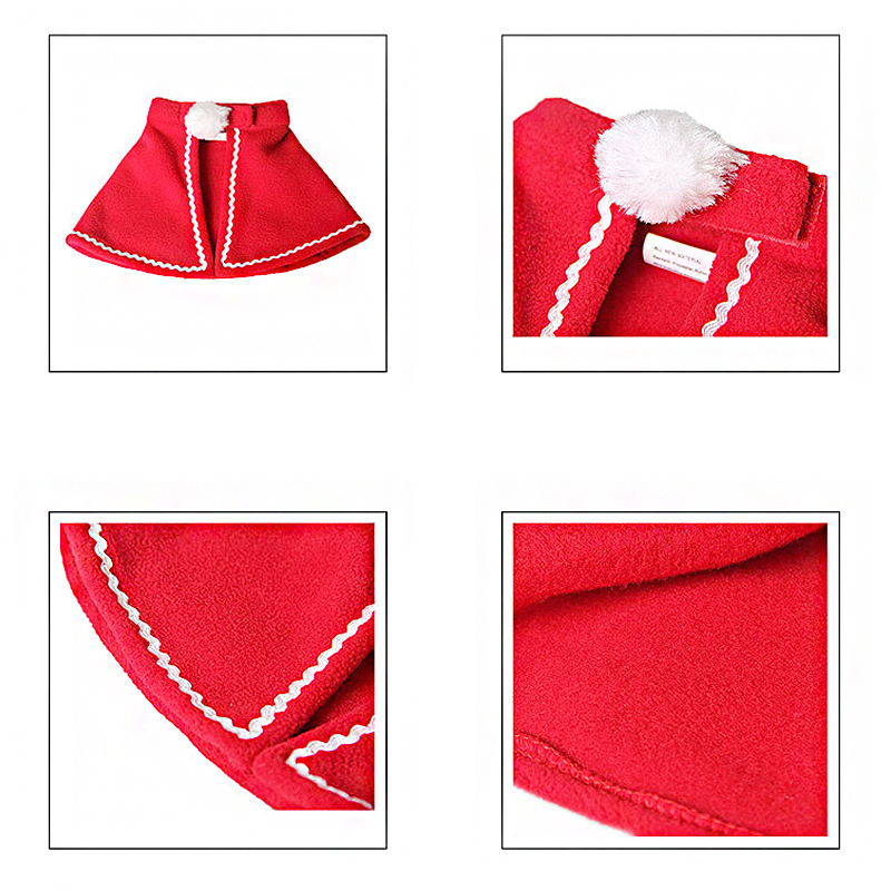 Pet Dog Cat Clothes Christmas Costume Cat Hat Scarf Cloak Dress Up For Kitten Puppy Small Dog Xmas New Year Costume Accessories 6