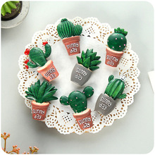 Cactus Cartoon Fridge Stickers Refrigerator Magnets Shell Cute Baby Toy Magnetic Stickers Educational Kids Home Decorative недорого
