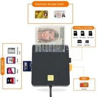 UTHAI X02 USB SIM Smart Card Reader per carta di credito IC/ID EMV SD TF MMC Cardreaders USB-CCID ISO 7816 per Windows 7 8 10 sistema operativo Linux