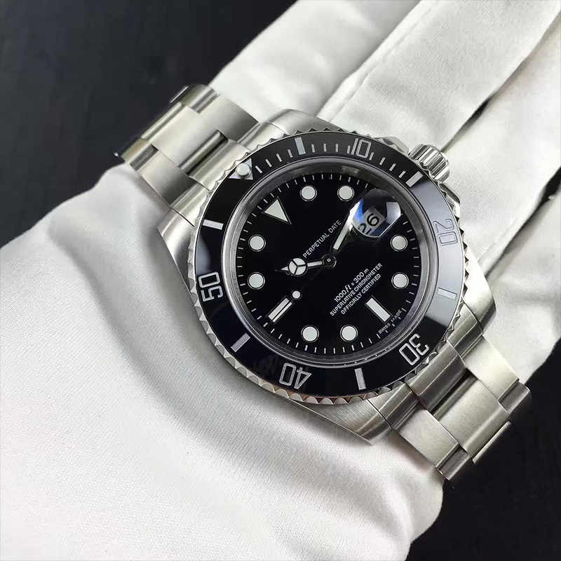 Aaa品質rlx-水ゴースト自動機械式時計ステンレス鋼スイスの高級ブランドビジネス腕時計デザイナー時計