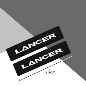Image 2 - 2 szt. Flanela bawełniana obudowa ochronna z włókna węglowego do akcesoriów Mitsubishi Lancer car styling