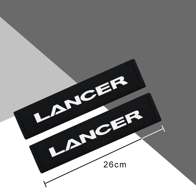 Image 2 - 2pcs Cotton flannel carbon fiber protection Cover case for Mitsubishi Lancer accessories car styling-in Car Stickers from Automobiles & Motorcycles