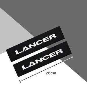 Image 2 - Housse de protection en flanelle de coton en fibre de carbone, pour Mitsubishi Lancer accessoires de voiture, 2 pièces