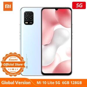Глобальная версия xiaomi mi 10 Lite 5g Новый 6 ГБ 128 Snapdragon 76 5g nfc смартфон 6,57 активно-матричные осид, мобильный телефон 48mp четыре камера 20W