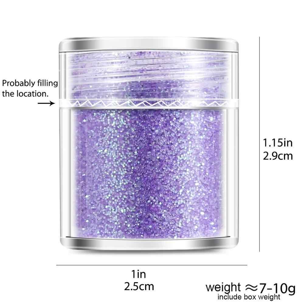 1 kavanoz/kutu 10ml mor pembe gül altın Mix 3D parlak tırnak tozu pul tırnak tozu sanat jel lehçe dekorasyon