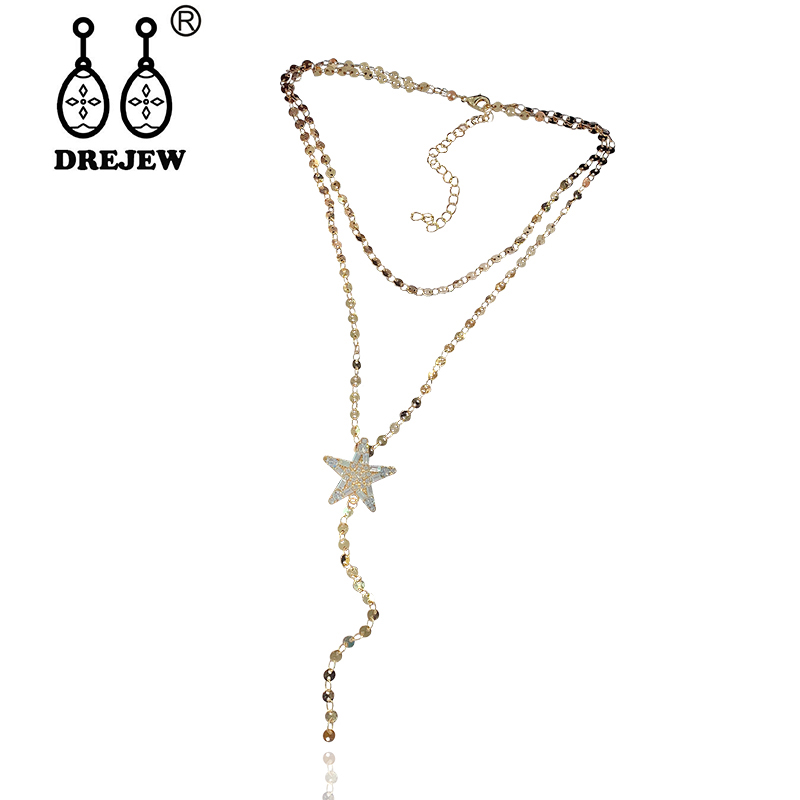 Christmas Fashion Womens New Chain Statement Necklace Jewelry Cute and Fresh Necklaces Jewelry for Women Girls Mom Bridesmaid Gift Personalized Long Chain Pendant Necklace
