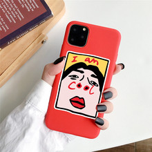ottwn For iPhone 11 Case Cute Bear Phone Case For iPhone 7 8 6 6S Plus X XR XS Max 5S Soft TPU Back Cover Funny Painting Coque