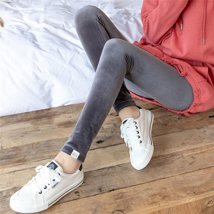 Plus Velvet Leggings Hot New Fashion Women's Autumn And Winter High Elasticity And Good Quality Thick Velvet Pants Warm Leggings