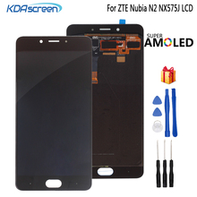 For ZTE Nubia N2 NX575J LCD Display Touch Screen Digitizer Phone Parts For ZTE Nubia N2 Display Assembly Replacement Screen LCD for zte grand x max z987 lcd replacement lcd display touch screen digitizer frame complete assembly parts 987 plus tools