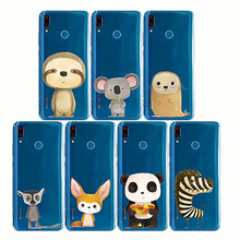 cartoon zebra penguin Bear fox Koalas lion bird panda tiger rabbit Hedgehog animal Phone Cases for huawe Y6 Y5 Y7Prime Pro Y9