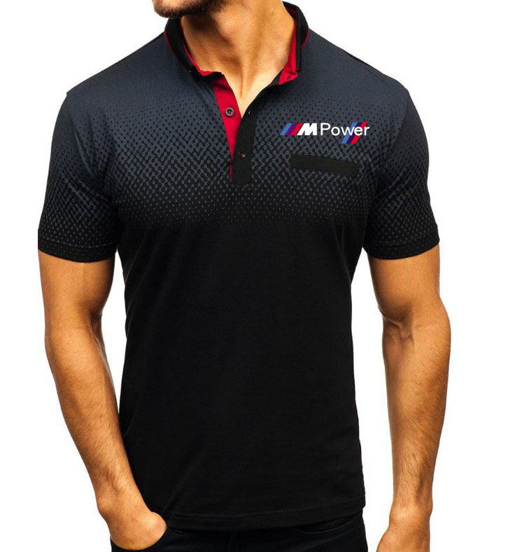 Men's Polo Shirt For Bmw Power Printed T Shirt Summer Lapel Mens Short SleeveCasual Fashion Cotton Short Sleeve Male Tops Cloth