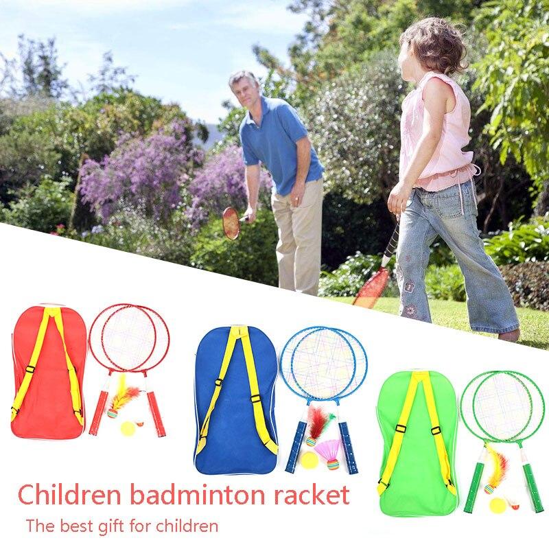 Children Badminton Racket Metal Child Toys School Random Color Sports Badminton Set Badminton Racket Practical Movement Durable