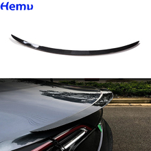 For Tesla Model 3 2017-2020 Rear Trunk Spoiler Fiber ABS Wing Spoiler Car Styling Rear Trunk Lip Carbon Car Modification parts