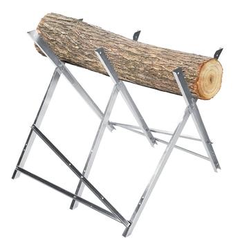 Sierra plegable caballo de corte de troncos soporte de madera de fuego BANCO DE APOYO 150kg de capacidad para el taller del hogar